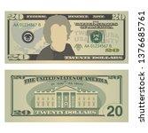 Twenty Dollars Bill. 20 Us...