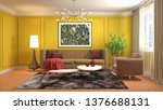 interior of the living room. 3d ...   Shutterstock . vector #1376688131