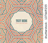 abstract retro geometric...   Shutterstock .eps vector #137669255