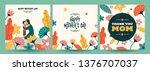 set of happy mother's day...   Shutterstock .eps vector #1376707037