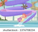 water park background. kids... | Shutterstock .eps vector #1376708234