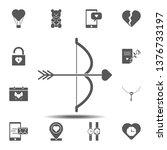 bow and arrow  heart  cupid...