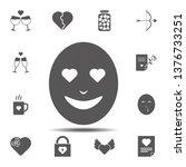 emoji in love icon. simple...
