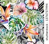 seamless watercolor pattern of... | Shutterstock . vector #1376737994