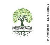 root of the tree logo design...   Shutterstock .eps vector #1376738831