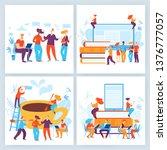 vector concept business... | Shutterstock .eps vector #1376777057