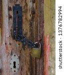 vintage style door handle...   Shutterstock . vector #1376782994
