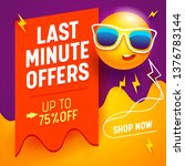 last minute offers banner with... | Shutterstock .eps vector #1376783144