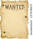 Illustration Of A Blank Wanted...