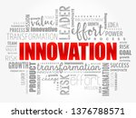 innovation word cloud collage ... | Shutterstock .eps vector #1376788571