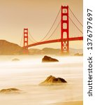 view of golden gate bridge from ... | Shutterstock . vector #1376797697