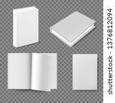set of blank book cover... | Shutterstock .eps vector #1376812094