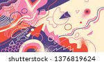 artistic background in abstract ... | Shutterstock .eps vector #1376819624