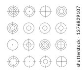 target line style set. vector... | Shutterstock .eps vector #1376829107