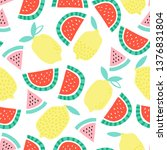 seamless childish pattern with... | Shutterstock .eps vector #1376831804