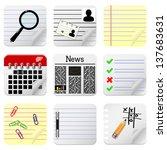 document icons for website. | Shutterstock .eps vector #137683631