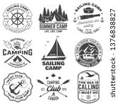 set of summer camp and sailing... | Shutterstock .eps vector #1376838827