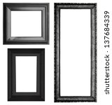 Set Of Black Vintage Frame...