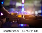 group of  young people hands... | Shutterstock . vector #1376844131