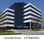 small suburban office building | Shutterstock . vector #137684501
