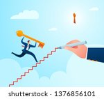 get a guidance to put a key in... | Shutterstock .eps vector #1376856101