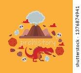 dinosaur vector tyrannosaurus... | Shutterstock .eps vector #1376874941
