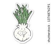 distressed sticker of a cartoon ... | Shutterstock . vector #1376876291