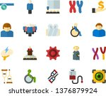 color flat icon set   angel... | Shutterstock .eps vector #1376879924