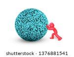 big data concept. 3d man... | Shutterstock . vector #1376881541