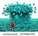 big data concept. 3d man facing ...   Shutterstock . vector #1376881544