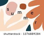 modern abstract art design with ... | Shutterstock .eps vector #1376889284