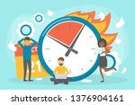 deadline concept set. idea of... | Shutterstock .eps vector #1376904161