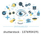 ophthalmology concept. idea of... | Shutterstock .eps vector #1376904191