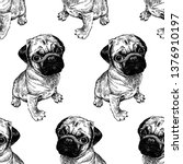 seamless pattern with cute... | Shutterstock .eps vector #1376910197