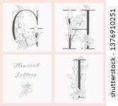 vector hand drawn flowered... | Shutterstock .eps vector #1376910251