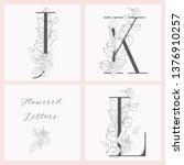vector hand drawn flowered... | Shutterstock .eps vector #1376910257