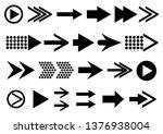 vector set of arrow shapes... | Shutterstock .eps vector #1376938004