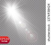 vector transparent sunlight... | Shutterstock .eps vector #1376938424