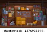basement workshop vector... | Shutterstock .eps vector #1376938844