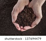 hand holding soil surface top... | Shutterstock . vector #137694479