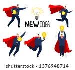 super idea businessman. brave... | Shutterstock .eps vector #1376948714