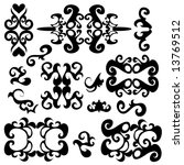 ornament decorative elements on ... | Shutterstock . vector #13769512