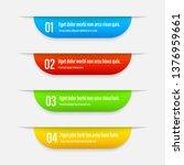 gradient infographics banners.... | Shutterstock .eps vector #1376959661