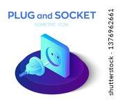 plug and socket. power plug and ... | Shutterstock .eps vector #1376962661