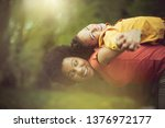 one on one time with her little ... | Shutterstock . vector #1376972177