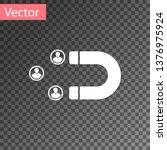 white customer attracting icon... | Shutterstock .eps vector #1376975924