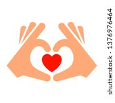 hands with heart new icon  two... | Shutterstock .eps vector #1376976464