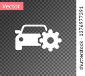 white car service icon isolated ... | Shutterstock .eps vector #1376977391