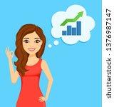 the girl character. business... | Shutterstock .eps vector #1376987147