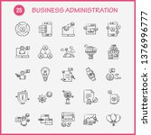 business administration hand... | Shutterstock .eps vector #1376996777